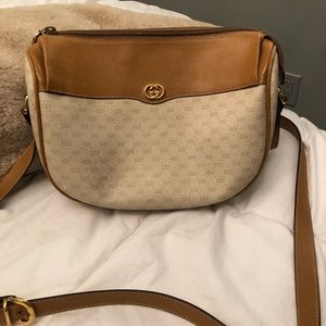 AUTHENTIC Gucci Vintage Brown Supreme Crossbody
